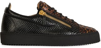 Giuseppe Zanotti Frankie snakeskin-effect leather sneakers
