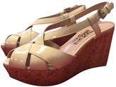 Salvatore Ferragamo Ecru Patent leather Sandals