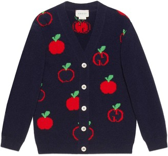 Gucci Baby GG apple wool cardigan
