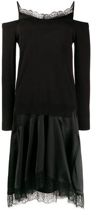Twin-Set Lace-Trim Midi Dress