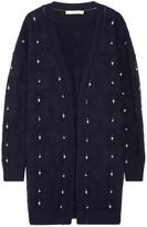 Jonathan Simkhai Pointelle-trimmed Embellished Wool Cardigan