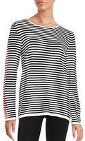 Calvin Klein Striped Crewneck Long Sleeve Sweater