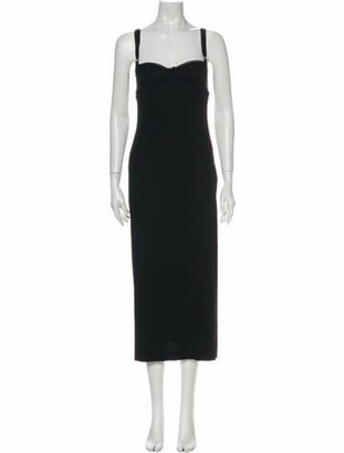 Dolce & Gabbana Square Neckline Long Dress Black