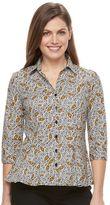 Dana Buchman Petite Pleated Peplum Shirt