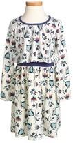 Tea Collection 'V Gelchen' Floral Print Dress (Toddler Girls, Little Girls & Big Girls)