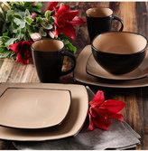 Gibson Signature Living Barcelona Taupe 16-Pc. Set, Service for 4