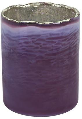 "Aspen Creative Corporation Aspen Creative Purple Glass Votive Candle Holder 3-1/2"" Diameter x 4-3/4"" Height, 1 Pack"