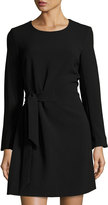 Rachel Roy Diane Front-Tie Knit Dress, Black