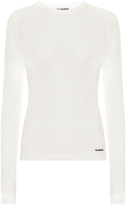 Jil Sander Cotton-jersey top