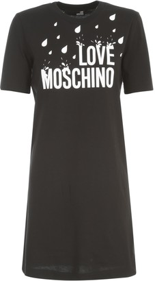 Love Moschino S/s Dress W/splash Print