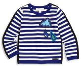 Burberry Baby's & Toddler Boy's Stripe Cotton & Merino Wool Graphic Sweater