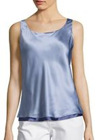 Lafayette 148 New York Luxe Silk Charmeuse Reversible Bias Tank Top