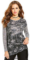 Gianni Bini Skyler Marled Long Sleeve Knit Top