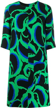 Marni Abstract Print Dress