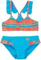 Roxy Moroccan Stripes Flutter 2-Piece Swimsuit Set (Toddler & Little Girls)