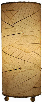 Eangee Cocoa Leaf Cylinder Table Lamp, Natural