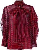 Fendi patterned pussybow blouse - women - Silk/Viscose - 40