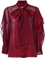 Fendi patterned pussybow blouse