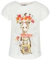 Mayoral Giraffe Floral Print Tee