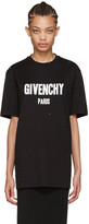 Givenchy Black Distressed Logo T-Shirt