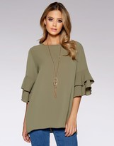 Quiz Frill Necklace Top