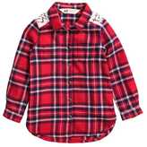 H&M Flannel Shirt with Lace - Red/plaid - Kids