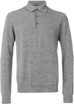 Lardini classic buttoned collar jumper