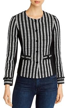 Karl Lagerfeld Paris Striped Tweed Jacket