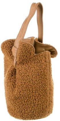 Thumbnail for your product : Elizabeth and James French Fry Teddy Small Bucket Bag Brown