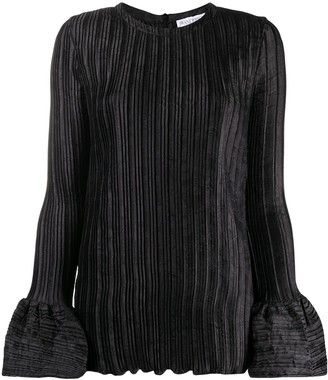 J.W.Anderson Bell Sleeve Ribbed Blouse