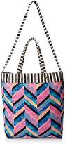 Lulu Woven Tote Bag with Cross-Body Strap