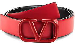 Valentino Men's Garavani Tonal V Logo Belt