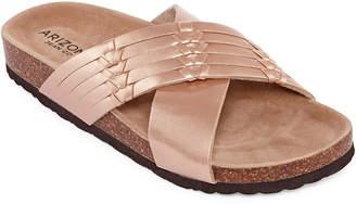 Arizona Fusion Womens Criss Cross Strap Footbed Sandals