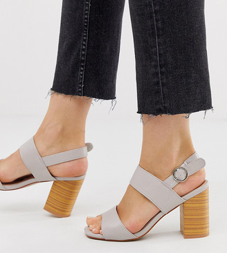 Park Lane wide fit casual block heeled sandals-Multi