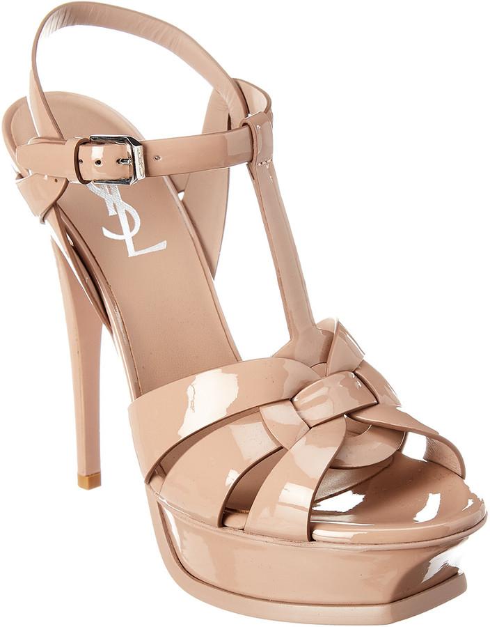 Saint Laurent Tribute 105 Patent Leather Sandal