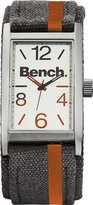 Bench Men's Quartz Watch with Silver Dial Analogue Display and Grey Strap BC0408SLOR