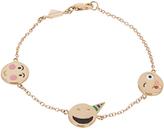 Alison Lou Enamel & yellow-gold Celebration Faces bracelet