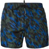 DSQUARED2 camouflage print swim shorts