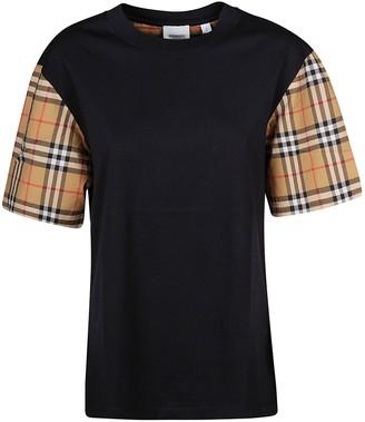 Burberry Check Sleeve T-shirt