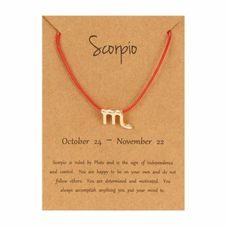 Yukong Home Adjustable Rope Bracelet Paper Card Bangle Bracelets Yukong 12 Constellation Pendant Horoscope Astrology Coin Pendant Gifts For Mom Present Women Girls