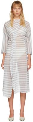 Christina Seewald SSENSE Exclusive Grey Kimono Twist Dress