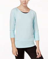 Gaiam Clover Strappy-Back Long-Sleeve Top
