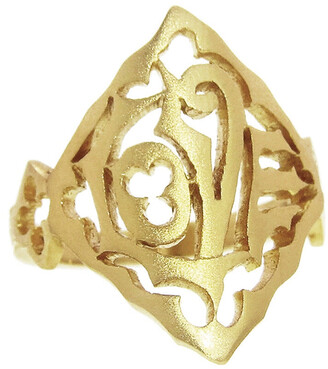 Cathy Waterman Yellow Gold Love Ring