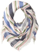 Steve Madden Blanket Stripe Triangle Day Wrap Scarves