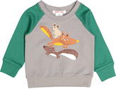 Baby Nay Green & Gray Campfire Friends Sweatshirt - Infant