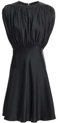 KHAITE Diane Gathered Satin-crepe Mini Dress