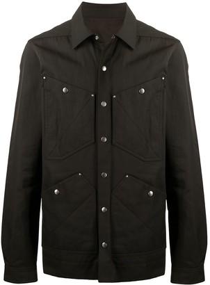 Rick Owens Multi-Pocket Snap Button Shirt Jacket