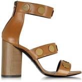Pierre Hardy Penny Camel Leather High Heel Sandal