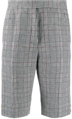 Thom Browne Check Print Knee-Length Shorts