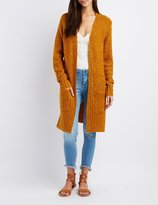 Charlotte Russe Boucle Open-Front Cardigan
